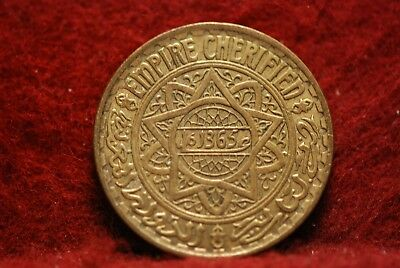 Morocco, AH1365 5 Francs, Y43, Extremely Fine+, #2, No Reserve,             34eb