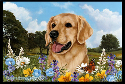 Indoor/Outdoor Summer Floor Mat - Golden Retriever (TB) 39005