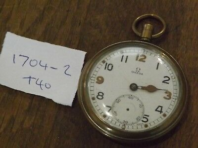 Military Omega Gstp Gents  Pocket Watch