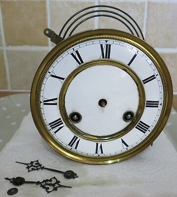 Movement Dial Gong and Hands from Vienna Regulator Type Wall Clock