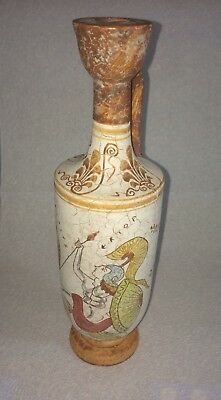 Ancient Greek Lekythos Museum Copy Achilles Slaying Penthesileia