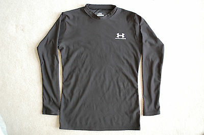 Under Armour Youth L Black Long Sleeve Training Shirt  Very Good