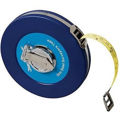 Silverline Surveyors 30m Tape Measure Imperial Metric 30 Metre Steel Measuring