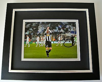 Pavel Nedved SIGNED 10x8 FRAMED Photo Autograph Display Juventus Football & COA
