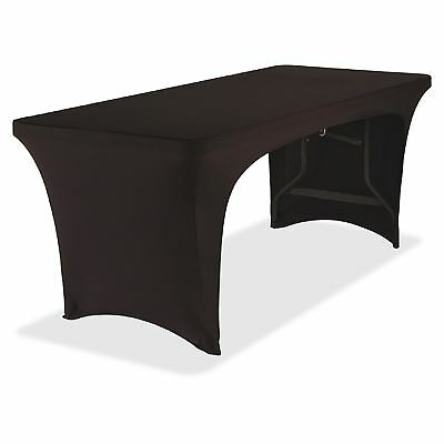 Iceberg Open Stretchable Table Cover - 1each - Fabricel - Black (ice-16541)
