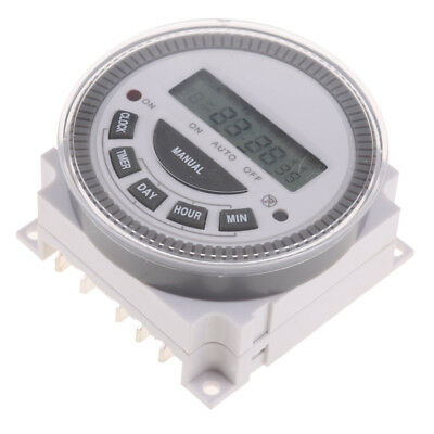 220V Digital LCD Relay Switch Weekly Programmable Electronic Time Timer