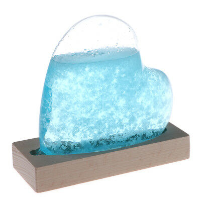 Heart Weather Forecast Crystal Bottle Storm Glass Home Decor Ornament Xmas Gift