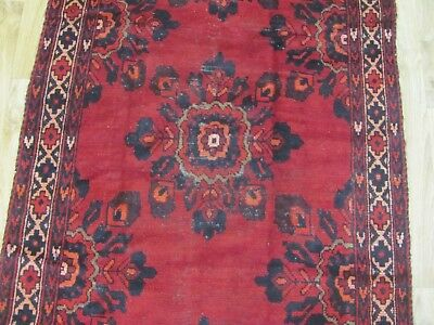 A SUPERB OLD HANDMADE BALUCH PERSIAN RUG (220 x 95 cm)