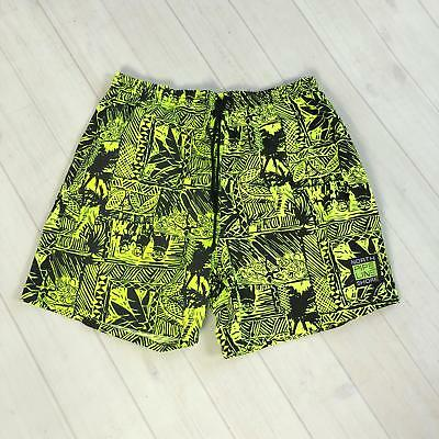 vtg 80s 90s PIPELINE North Shore Surf Neon Green SWIM TRUNKS XL 1990s surfer