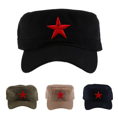 Cotton Red Star Hat Men Women Outdoor Cap for Outdoor Camping Hiking Travel