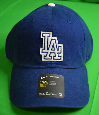 new style 50bc3 d0ba8 Nike MLB Unisex Los Angeles Dodgers Heritage86 Cooperstown Strapback Hat  Cap New