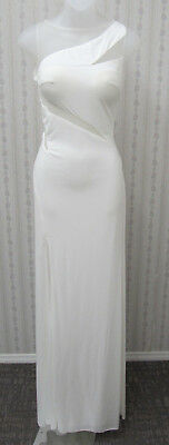 NWT Sexy Cut outs & low back Ivory knit PROM PAGEANT, WEDDING by JOVAN sz 2