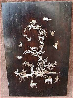 Antique Asian Rosewood Frame Mother of Pearl Southeast Asian1880