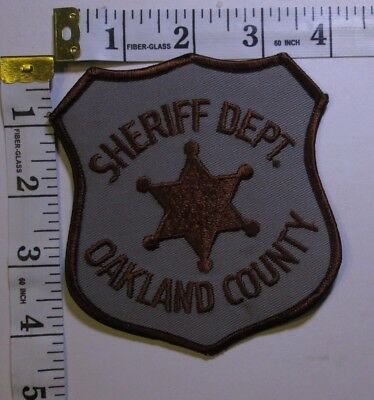 Oakland County Michigan Sheriff Department Shoulder Patch