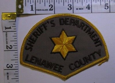Lenawee County Michigan Sheriff Department Shoulder Patch