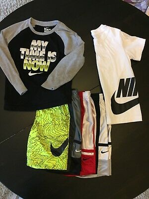 Lot of Boys Size 6/7 Nike 4 Pairs of Shorts and 2 T-Shirts