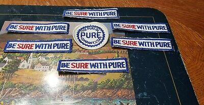 7 Vintage  PURE OIL COMPANY USA PATCHES Lot