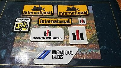Rare 1980s International Harvester Products Patches lot of 8