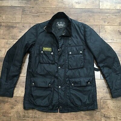 Men's Barbour International Black International Padded Jacket Size Medium