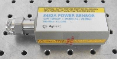 C147924 Agilent 8482A Power Sensor 1uW-100mW (-30dBm to +20dBM) 100kHz-4.2GHz