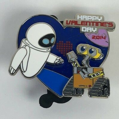 Disney Pixar Wall-E and Eve Valentine's Day 2014 Disney Pin