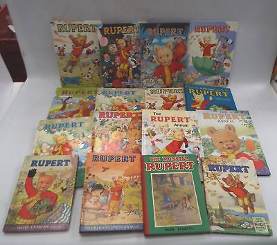 16X RUPERT ANNUALS Vintage Hardback & Some Modern Children's Books - H61