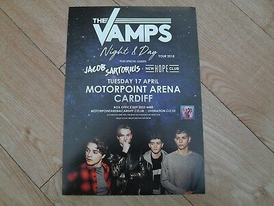 THE VAMPS - lovely colour tour flyer (Mint)