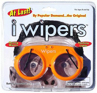 Orange iWipers Windshield Wiper Flashing Lights Costume Glasses Goggles Wipers