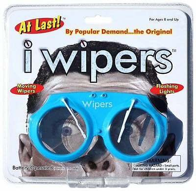 Blue iWipers Windshield Wiper Flashing Lights Costume Glasses Goggles Wipers NEW