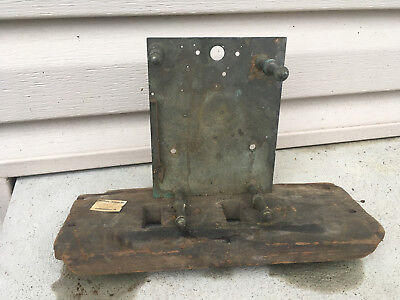 Antique Weight Driven Clock Movement Back Plate on Case Bottom Parts / Repair