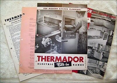 1950 Thermador Built-In Electric Oven-2 Sales Brochure, Price List, Installation