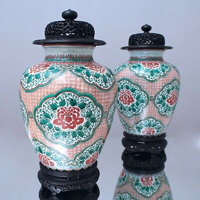 Kaiserliches China: Paar 17. Jh Ming Wucai Vasen pair ming dynasty wucai jars 康熙