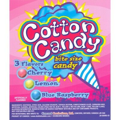 5lb COTTON CANDY flvr bulk candies Lemonade Cherry Blue Raspberry Dubble Bubble