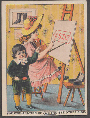 American Shoe Tip: Child's Cash Store Thompsonville CT trade card 1880s