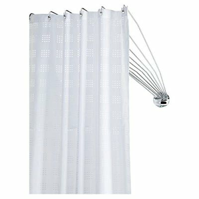 272226304 Shower Spider Umbrella The Flexible Shower Curtain Rod, Metal, Chrome,