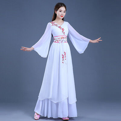 Han dynasty element ancient fairy womens dance performance dress costumes size M