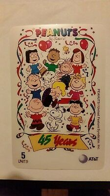 PEANUTS 45th Anniversary Charlie Brown Snoopy Linus Schroeder Sally Pig Pen