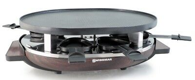Swissmar 8 Person Matterhorn Oval Raclette Party Grill w Grill Plate Brown NEW