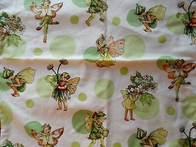 Vintage Cotton Cushion Covers With Peter Rabbit & Fairies~Childs Bedroom~Nursery