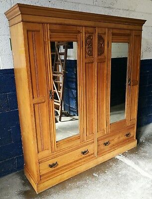 ~Quality ~Antique ~Victorian? ~Large Wardrobe ~Drawers ~Carved ~VGC~