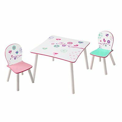 Flowers And Birds Kids Table And 2 Chair Set By Hellohome