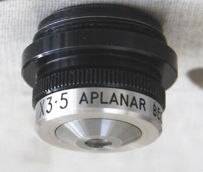 Very Unusual Beck APLANAR 3.5X Microscope Objective  - Very good