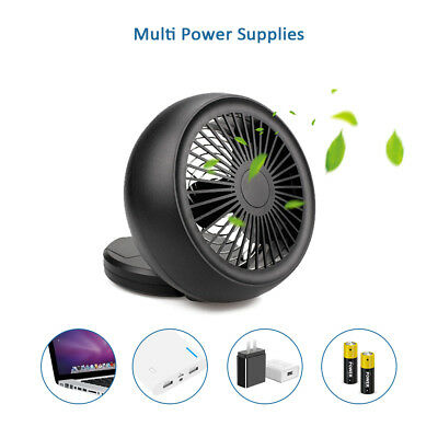 USB Fan Mini Portable Desktop Cooling Desk Quiet Fan Rechargeable Battery Fan