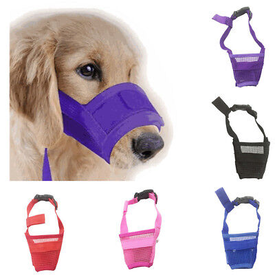 1PC Adjustable Pet Dog Bark Mask Bite Mesh Mouth Muzzle Grooming Anti Stop Chew