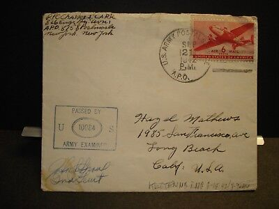 APO 875 KETTERING, ENGLAND 1942 Censored WWII Army Cover 826 ENGR Bn AVN