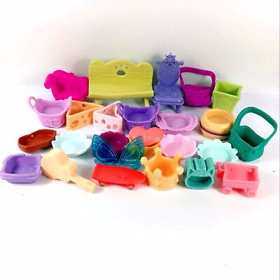 random 10pcs Littlest Pet Shop LPS Parts Accessories Lot chair bag car toy doll