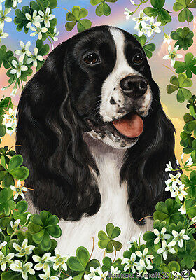 Large Indoor/Outdoor Clover Flag - English Springer Spaniel 31080