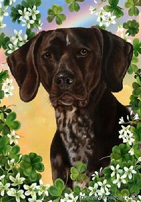 Large Indoor/Outdoor Clover Flag - German Shorthaired Pointer 31049