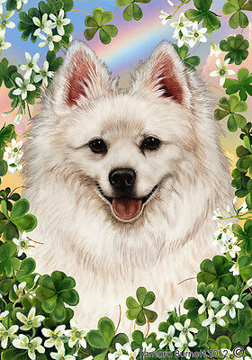 Large Indoor/Outdoor Clover Flag - American Eskimo 31126