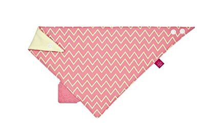 Bandana With Silicone Teether, Ltexbas167 Zigzag Red By Lassig